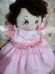 boneca de pano princesinha MARIA FERNANDA