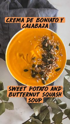 Healthy Soup Recipes, Smoothie Recipes, Real Food Recipes, Vegetarian Recipes, Cooking Recipes, Yummy Veggie, Yummy Food, Cute Breakfast Ideas, Vegan Butternut Squash Soup