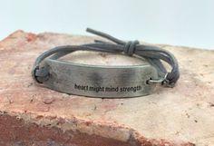 Heart, Mind and Strength Bracelet
