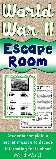 the world war ii escape room will take students on a secret mission around the classroom
