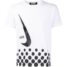 83cf44a6e30 Black Comme Des Garçons Camiseta com estampa Comme des Garçons x Nike
