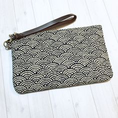 Padded Wristlet woman clutch Japanese clutch by BlueRabbitHandmade