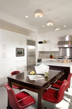 Kitchen Island With Table Design Ideas, Pictures, Remodel and Decor