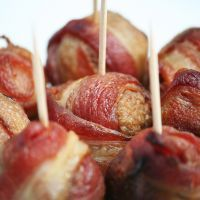 Paleo Diet Bacon Wrapped Meat Balls