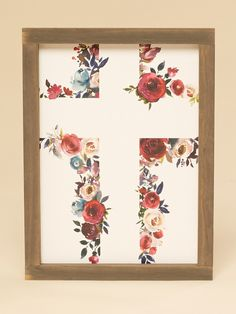Sale - Sale Floral Cross Wall Art – Gifts/Home Decor – Sale Paper Wall Art, Diy Wall Art, Wood Wall Art, Framed Wall Art, Wood Walls, Diy Canvas, Canvas Wall Art, Canvas Ideas, Altar