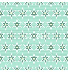 Turquoise retro patterns vector on VectorStock®