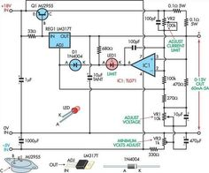 Fully adjustable power supply circuit project