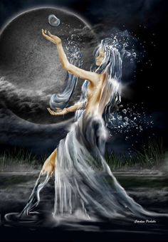one of my very first digital art The water fairy Witch Pictures, Fairy Pictures, Fairy Land, Fairy Tales, Water Fairy, Guardian Angels, Fallen Angels, Water Element, Beautiful Fairies