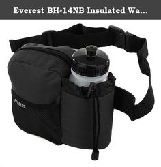 """Everest BH-14NB Insulated Water Bottle Waist Hip Fanny Pack Bag + Bottle. The Everest BH-14NB hydration fanny pack features 600D polyester material with an insulated and padded water bottle holder with an adjustable locking drawstring closure that provides maximum stability for your bottle. The holder fits up to 3"""" Diameter bottles. The adjustable waist strap with quick release buckle easily adjusts up to a 42"""" waist and provides the perfect fit allowing hands-free activity. The zippered..."""
