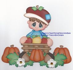 Premade Apple Boy Paper Piecing Set for Scrapbook Pages by Babs   eBay