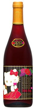 Hello Kitty Beaujolais Nouveau 2012 Par Avion bottle