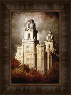 Manti Temple by Brent Borup
