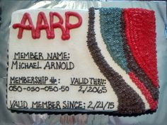 AARP Over the Hill birthday cake