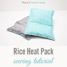 Easy Sewing Projects, Sewing Tutorials, Diy Heat Pack, Homemade Heating Pad, Rice Pack, Baby Flannel, Fabric Pen, Canned Heat, Coordinating Fabrics
