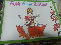 Drawing on basant panchami Crafts For Kids, Arts And Crafts, Ticking Fabric, Drawings, Happy, Crafts For Children, Kids Arts And Crafts, Sketches, Ser Feliz