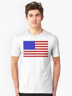 American Flag 4th of July Fourth of July Independence Day horizontal • Also buy this artwork on apparel, stickers, phone cases, and more.