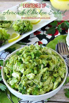 Lightened Up Avocado Chicken Salad #recipe