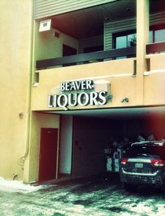 The name of a Liquor store in a town called Beaver. Doesn't seem too bad until you read the sign aloud.