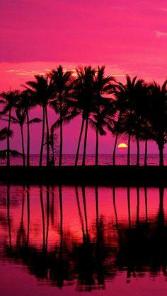 Beautiful Sunset Wallpaper Landscape Nature Wallpapers in jpg Beautiful Sunset, Beautiful World, Beautiful Places, Beautiful Pictures, Beautiful Scenery, Amazing Places, Hawaiian Sunset, Pink Sunset, Pink Sky