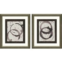 Enhance your décor with the Paragon Decor Astro Burst I Framed Wall Art - Set of 2 that brim with contemporary-chic appeal. This abstract pair. Framed Art Sets, Wall Art Sets, Framed Wall Art, Painting Frames, Painting Prints, Wall Art Prints, Framed Prints, Frame Wall Decor, Frames On Wall