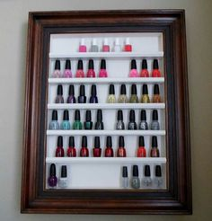 Picture frame nail polish organizer