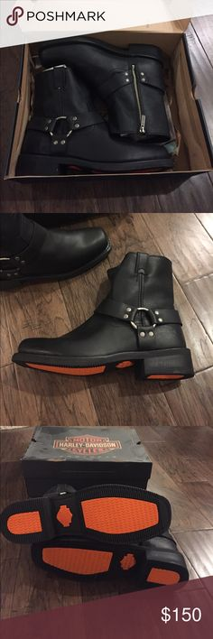 New in box Harley Davidson Boots Brand new never worn. Black leather motorcycle boots. Heavy durable boots. Size 10 Harley-Davidson Shoes Boots