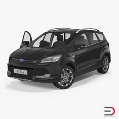 Ford Kuga FWD 2016 3d model Rigged
