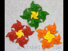 Como hacer un mosaico en origami - Hogar Tv por Juan Gonzalo Angel - YouTube