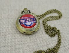 Handmade Washington Nationals Watch/Groomsmen gift,MLB Washington Nationals Pocket Watch