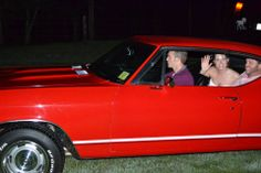 My cousin drove us away in his 1968 red Chevelle.