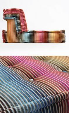 The Mah Jong Sofa for Roche Bobois colors by Hans Hopfer