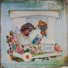 Kaisercraft - Key to My Heart - Geraldine Pasinati Beautiful Sketches, Daylight Savings Time, Key To My Heart, Fairy Tales, Layouts, December, Scrapbooking, Blog, Painting