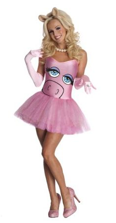 Swanky The Muppets Miss Piggy Adult Costume. Creative Selection of The Muppets Costumes for Bachelor Party, Halloween at PartyBell. Miss Piggy Halloween Costume, Disney Halloween Costumes, Halloween Fancy Dress, Cute Halloween, Halloween Outfits, Halloween Ideas, Adult Halloween, Halloween Customs, Halloween 2014