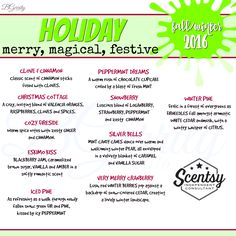 SCENTSY - SCENTS HOLIDAY FALL/WINTER 2016 FLYER BY: Brittany Gerrity Admin Of: No-Nonsense Canadian Flyer Sharing Group On Facebook www.brittanygerrity.scentsy.ca