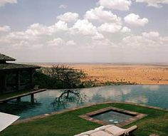 Poolside view of the Serengeti (Singita Grumeti Reserves Sasakwa Lodge)