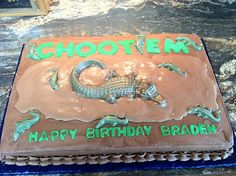 Swamp people birthday cake haha for my dads bday Birthday Presents For Grandma, Birthday Wishes For Son, Birthday Gift Cards, 5th Birthday Party Ideas, Birthday Card Sayings, Birthday Cupcakes, Boy Birthday Parties, Birthday Stuff, Birthday Cake Girls Teenager