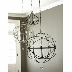 Orb Chandelier | Ballard Designs. Large or extra large for foyer, small or petite for over stairs.