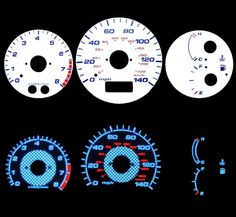 99 00 01 02 03 #Mazda Protege 5 /MP5 White Glow Gauges $32.00