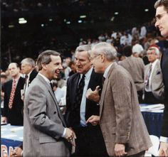 1991 Final Four, Roy Williams, Dean Smith, Bill Guthridge, Matt Doherty :: Hugh Morton Collection of Photographs and Films