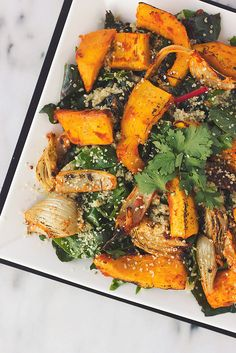 Red Curry Roasted Pumpkin and Fennel Quinoa Salad #recipe #healthy