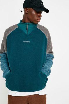 39b3b8e43e7 adidas EQT Green Polar Fleece Half-Zip Jacket Tech Fleece
