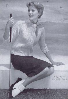 3/4 Sleeve Women's Cardigan Vintage Knitting Pattern PDF 1950s Women's Fashion. $4.99, via Etsy.