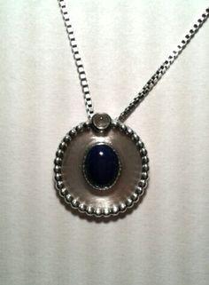 Erna LapisC Necklace Pendant Silver