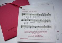 Hochzeitskarten - Kirchenheft - Serie DU & ICH - ein Designerstück von creartivbox bei DaWanda