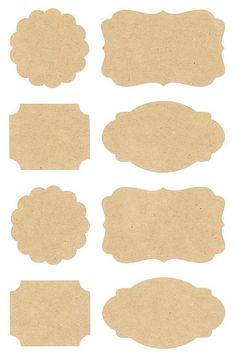 Pack of 32 kraft label stickers in four different styles. Scallop and rectangle stickers measure across and the larger label stickers measures across. These gorgeous stickers are perfect for using on cards and gifts or for sea Printable Labels, Printable Stickers, Cute Stickers, Label Stickers, New Crafts, Diy And Crafts, King Craft, Etiquette Vintage, Book Labels
