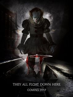 Synopsis;  When children begin to disappear in the town of Derry, Maine, neighborhood kids band together to square off against Pennywise (Bill Skarsgård), an evil clown whose history of murder and violence dates back for centuries. Initial release: September 8, 2017 (USA) Director: Andres Muschietti Screenplay: Stephen King Story by: Stephen King Produced by: Dan Lin, Roy Lee, David Katzenberg, Barbara Muschietti, Seth Grahame-Smith Drama/ Thriller Chat Conversation End