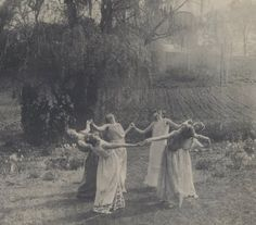 Vassar college girls practicing Greek dances, ca. 1923