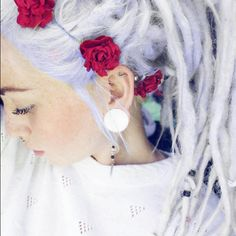 lilac dreads <3