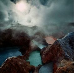 Sulphur springs in Bolivia