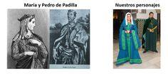 """María de Padilla fue amante del rey de Castilla Pedro I """"el cruel"""" que era esposo de Blanca de Borbón. Según indica la leyenda María mando asesinar a Blanca y en 1933 las cortes de Sevilla reconocieron el matrimonio entre María y Pedro. Tras la muestre de María Padilla fue enterrada en la capilla de los Reyes en la Catedral de Sevilla."""